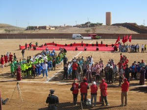 صورة من أحدى الدوريات لكرة القدم التي أقيمت بزاكورة