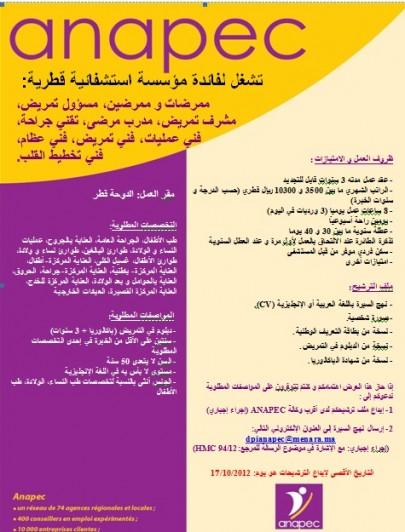 فرص شغل بقطر : تشغل لفائدة مؤسسة استشفائية قطرية