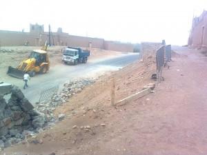 توقف أعمال البناء دون إتمام الحائط