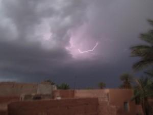 الأمطار بإقيلم زاكورة