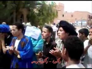مسيرة تضامنية مع معتلقي امحاميد الغزلان أمام المحكمة بزاكورة