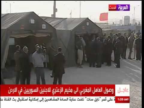 الملك محمد السادس يزور مخيم سوري