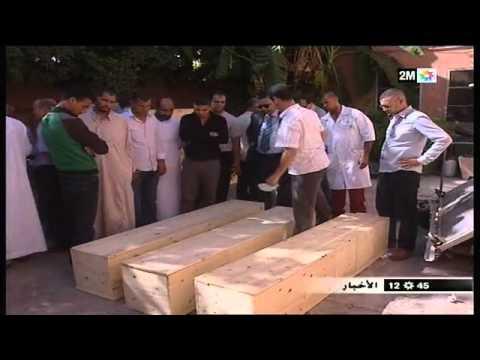 وصول جثامين الضحايا ودفنهم