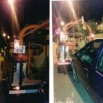 صورتان لسيارة الضحية التي تم تخريبها من طرف الدهو أحمد
