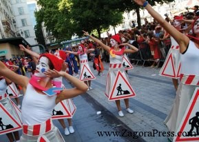 إستعراض لفائدة أطفال مدينة زاكورة من أجل التحسيس بأخطار حوادث السير