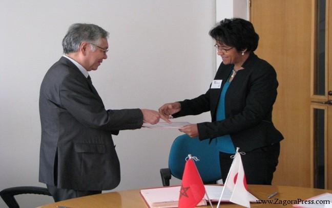 اتفاقية بين السفارة اليابانية والجمعية النسائية للتنمية والتضامن زاكورة لأجل إنجاز دار ايواء التلميذات بزاكورة