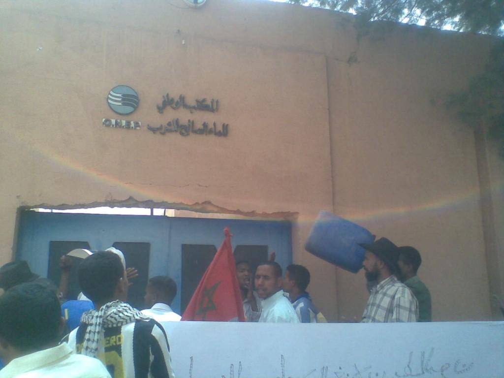 احتجاجات تعم امحاميد الغزلان بسبب الانقطاع المتكرر للماء