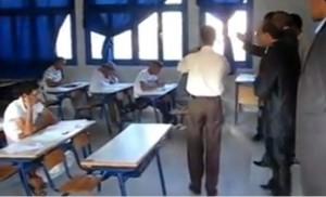 نائب وزارة التربية الوطنية بتنغير يتفقد سير الإمتحانات بثانوية سيدي محمد بن عبد الله