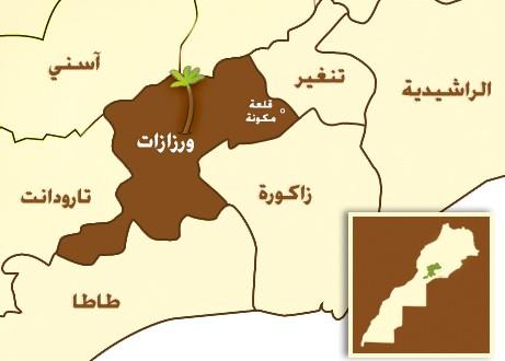 carte-Maroc-OUARZAZATE