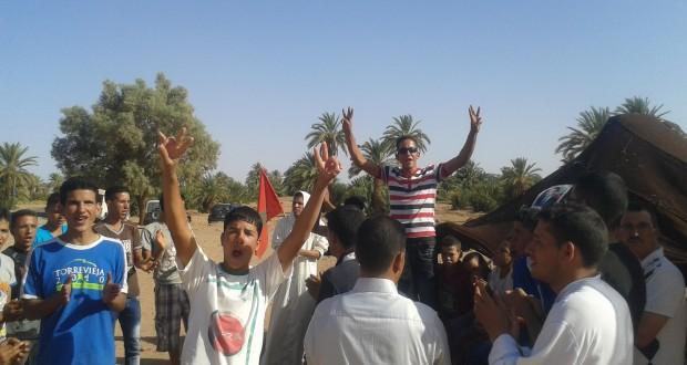 ساكنة دوار الركابي جماعة امحاميد الغزلان تنتفض ضد حرمانها من الماء الصالح للشرب