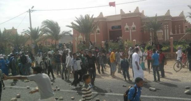 مواجهات بين متظاهرين و القوات العمومية بجماعة أولاد يحيي
