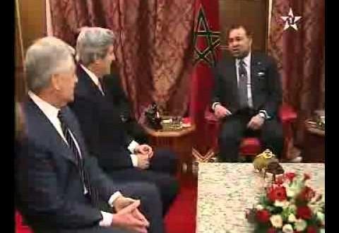لقاء جلالة الملك بوزير الخارجية وكاتب الدولة في الدفاع الامريكيين