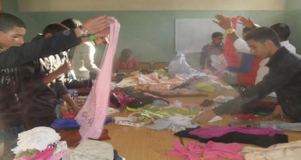 مبادرة خيرية إنسانية لجمع الملابس تنظمها جمعية الأوراش الإجتماعية بزاكورة