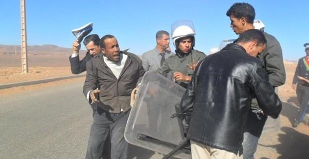 أمن زاكورة يعنف ويعتقل 14 شخصا من أبناء قبيلة أسرير المشان