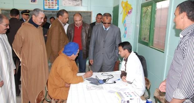 قافلة طبية بمنطقة سيت الجبلية  بالنقوب لتقريب الخدمات الصحية لسكان الجبال
