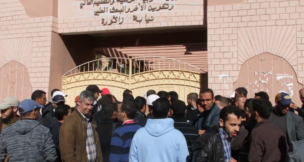 إضراب في قطاع التعليم من طرف الأساتذة الجدد