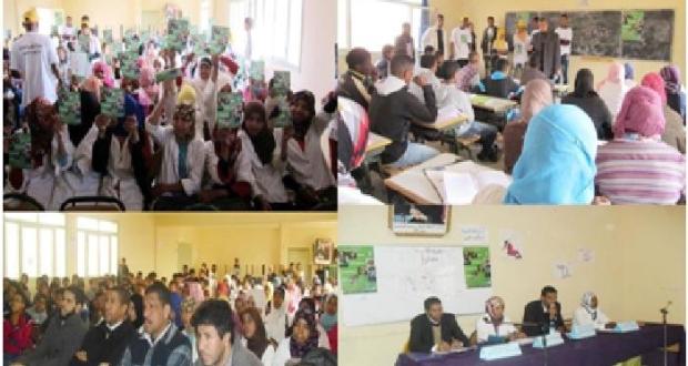 حملة تحسيسية لنادي حقوق الانسان والمواطنة بثانوية أولاد يحيى الكراير