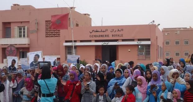 """أكدز: مسيرة إحتجاجية أمام مقر الدرك للمطالبة بكشف الجاني في قضية """"محمد عبوشي"""""""