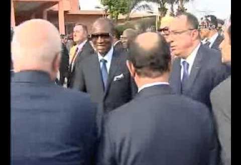 وصول جلالة الملك في زيارة لغينيا كوناكري