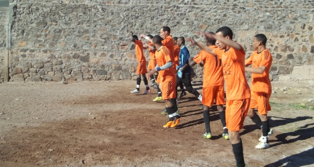 نادي الإتحاد الرياضي لزاكورة  في مواجهة حسنية أكدز