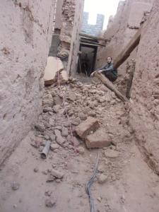 آخر تطورات حادث انهيار منزل بدوار أسكجور
