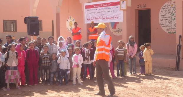 جمعية قصر الجديد  بتاكونيت تنخرط حملة تحسيسية حول السلامة الطرقية