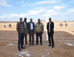 ممثل عصبة الجنوب لكرة القدم رفقة رئيس ،أمين و كاتب عام نادي الاتحاد الرياضي لزاكورة  في مواكبة حصص الدورة التكوينية