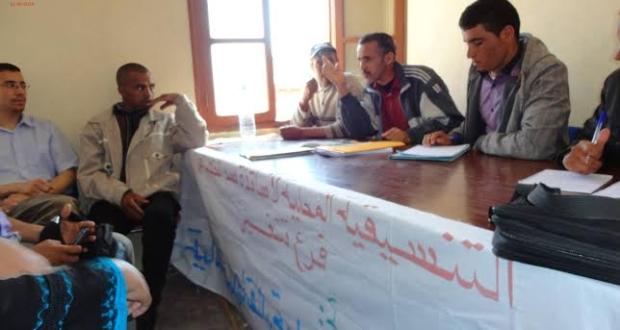 اجتماع موسع لتنسيقية اساتذة سد الخصاص ومنشطي التربية غير النظاميق بإقليم تنغير
