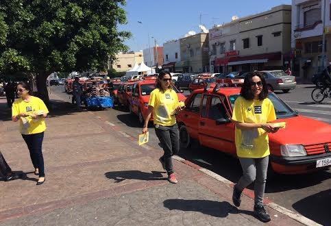 رئيسة مهرجان فيدادوك وفريق العمل يخرجون إلى شوارع أكادير في يوم تواصلي