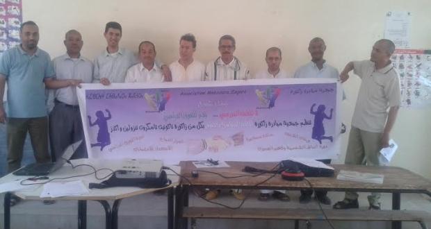 """""""لا للعنف المدرسي…نعم للتفوق الدراسي"""" شعار قافلة جمعية مبادرة زاكورة"""