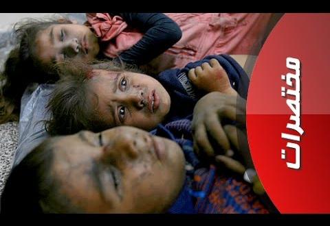 أب فلسطيني يتعرف على جثث أطفاله