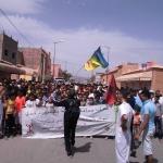 إحتجاجات ساكنة النقوب بزاكورة تصل يومها الخامس هي الأخرى لأجل الماء الصالح للشرب