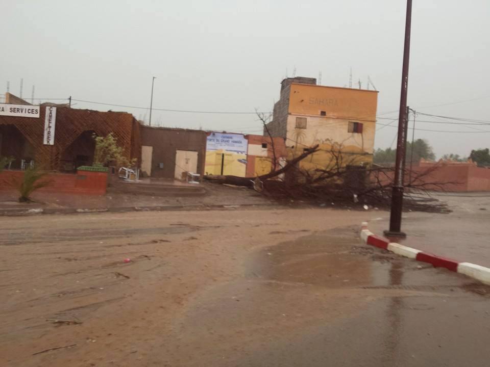 عواصف رعدية وتساقطات مطرية جد هامة بامحاميد الغزلان