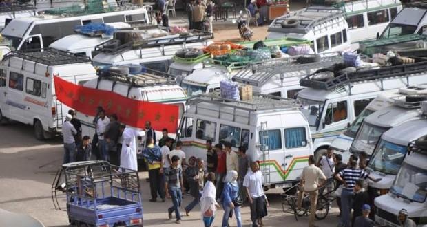 تنغير: اضراب ارباب النقل المزدوج يشل حركة المواطنين