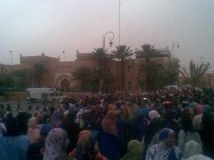احتجاج امام مقر عمالة زاكورة