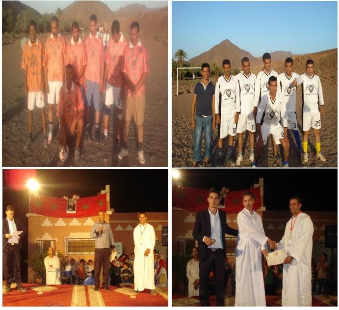إختتام فعاليات الانشطة الثقافية و الرياضية و الفنية إحتفالا بعيد الاضحى المبارك بدوار أركيون إقليم زاكورة المغرب