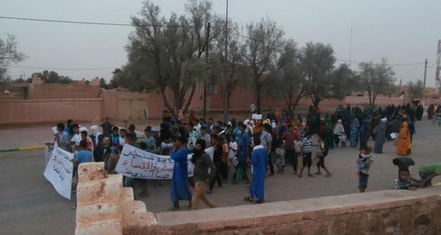 manifestation a mhamid elghizlane contre la descrimination (6)