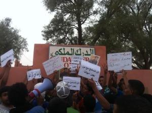 manifestation etudiantes mhamid elghizlane