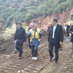 """""""الرباح"""" يشرف على إعادة إصلاح أضرار الطريق رقم 9 بين مراكش ورزازات"""