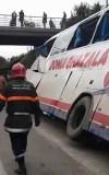 صور وفيديو للحادثة لحافلة دنيا الغزالة القادمة من زاكورة نحو البيضاء