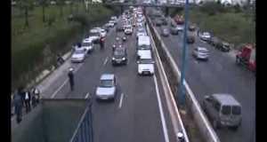 حادثة سير لحافلة دنيا الغزالة القادمة من زاكورة