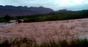 فيضانات تغطي حقول زاكورة