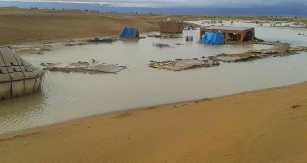 خسائر فادحة بالمخيمات السياحية بالشكاكة بامحاميد الغزلان