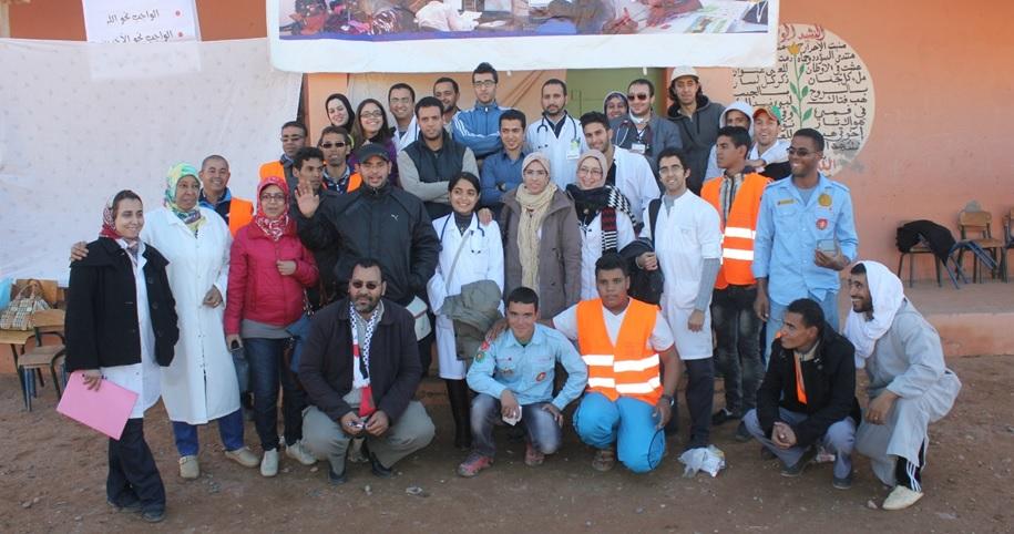 Caravane de solidarite a tagounite