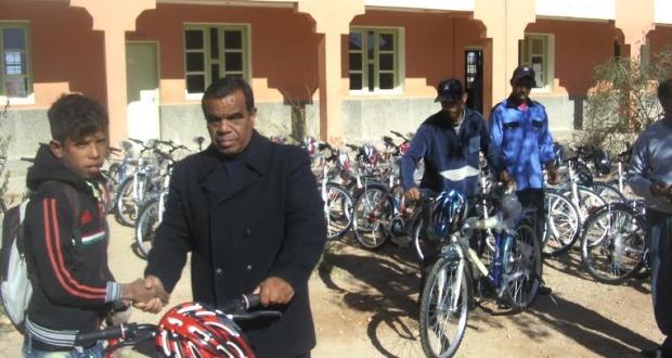 655 دراجة هوائية هبة من مجلس جهة سوس ماسة درعة لمحاربة الهدر المدرسي بزاكورة