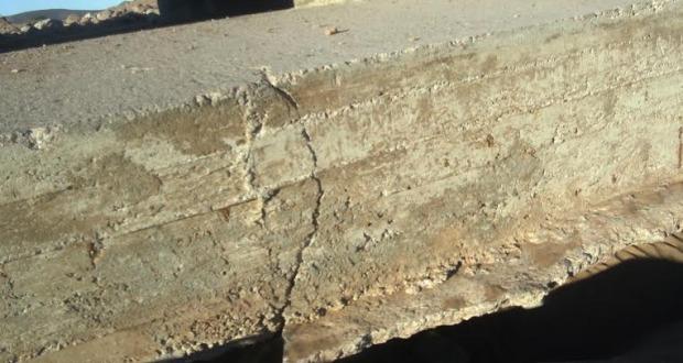 تصدع وانكسار قنطرة حديثة البناء  بالطريق الوطنية رقم 12 بزاكورة -3
