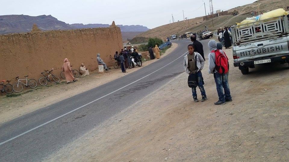 حادثة خطيرة بسبب اصطدام سيارتين بأولاد يحيى لكراير بإقليم زاكورة