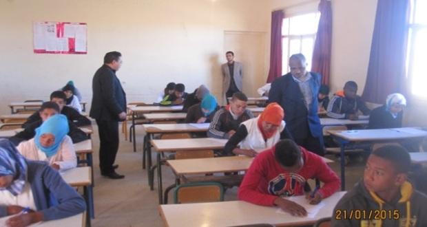 انطلاق الدور الأول من الامتحانات الإشهادية الابتدائية والإعدادية بنيابة زاكورة