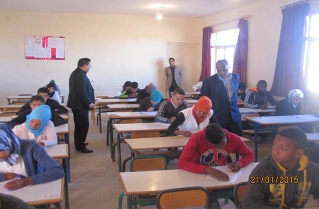 debut des examens de 3eme annee - Zagora -3