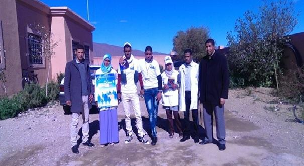 الثانوية التأهيلية أولاد يحيى لكراير تحتفل بالأسبوع الوطني للسلامة الطرقية–1